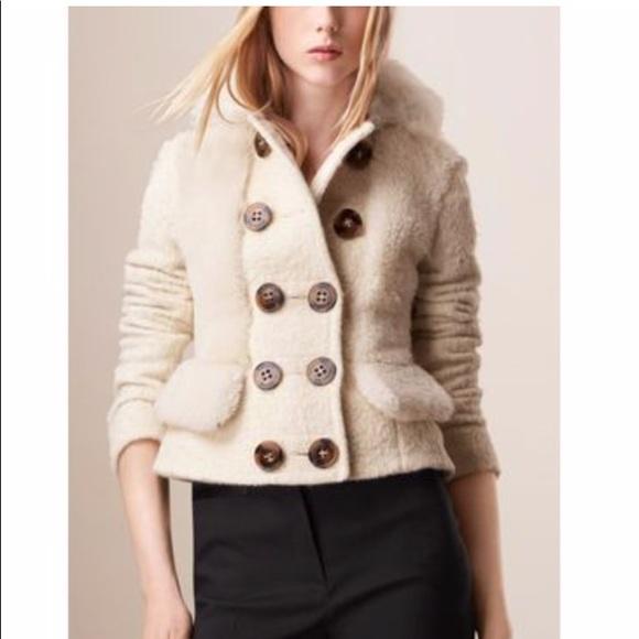 fd986d5f7d5a Burberry Prorsum Alpaca And Shearling Jacket